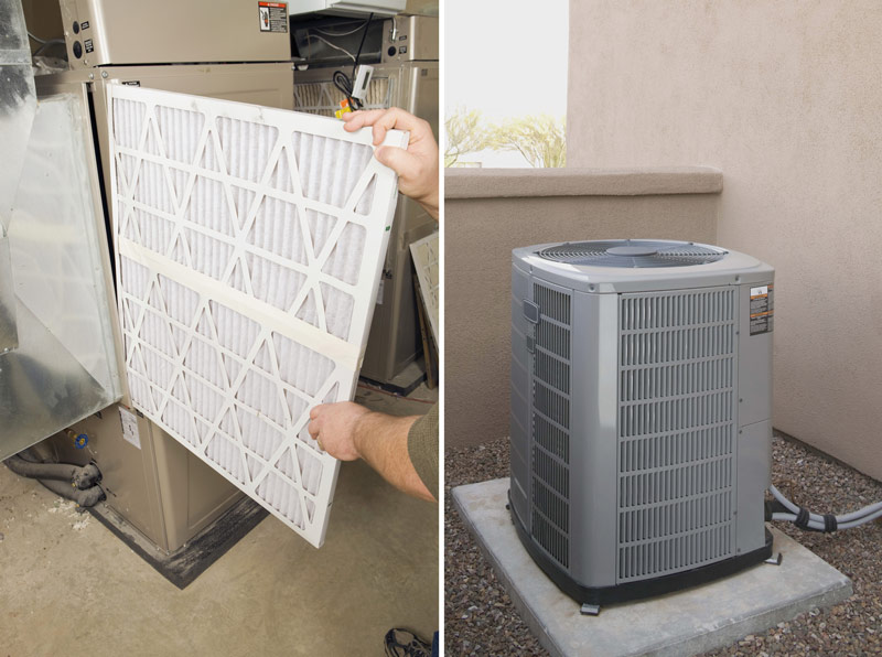 hvac filter and ac unit