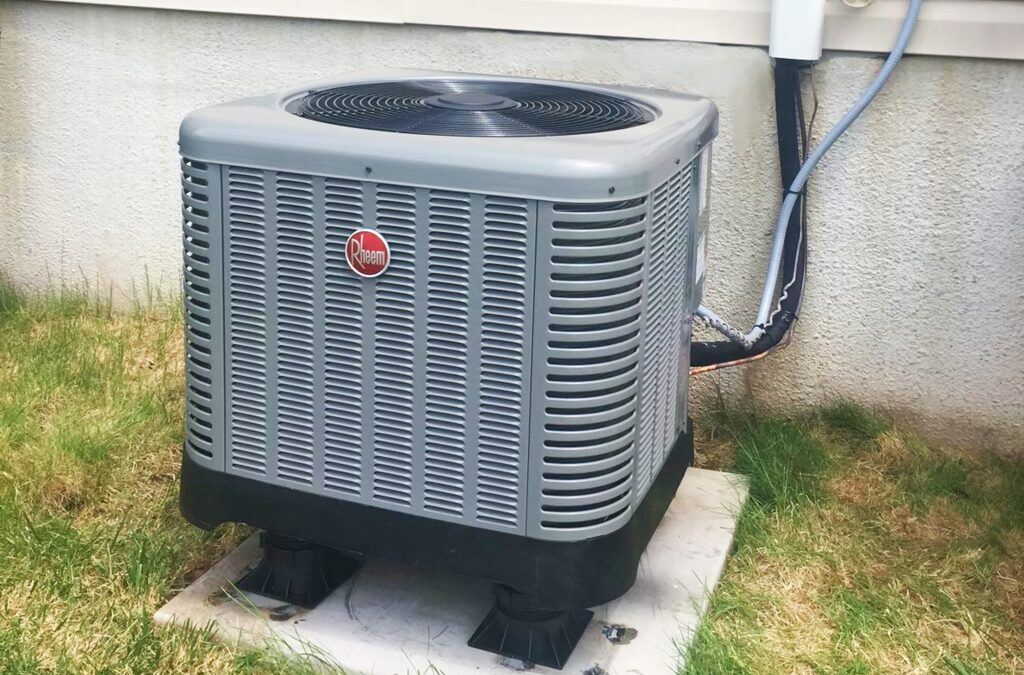 Here's a Typical Residential Attic Air Conditioning Install